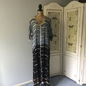 Ace Fashion Tie Dye Maxi Caftan Free Size NWT